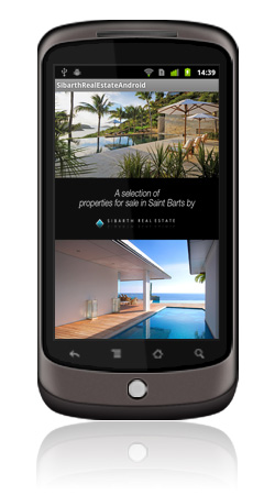 Sibarth Real Estate Android App Screen 1