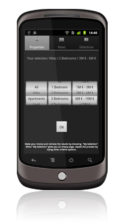 Sibarth Real Estate Android App Screen 2