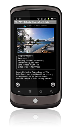 Sibarth Real Estate Android App Screen 5