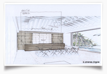 Villa TMN - Drawing 2 - Lifestyle - Architect - Johannes Zingerle