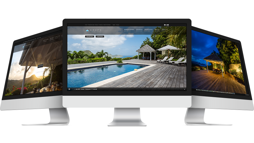 Luxury Homes for sale in St Barth - screen captures