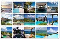 St Barts villas for sale - grid view