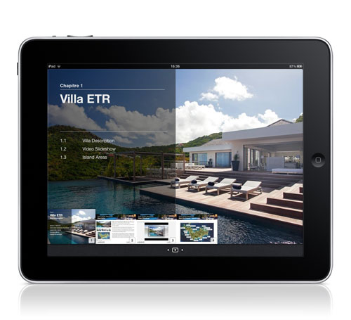 iPad Interactive Brochures Villa ETR Chapter