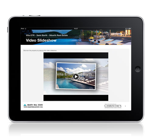 iPad Interactive Brochures Villa ETR Video Slideshow